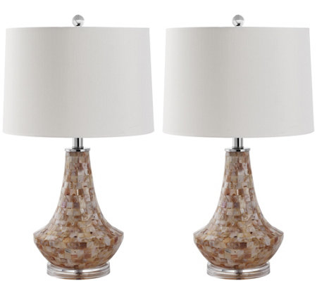 Safavieh Set of 2 Kobe Shell Lamps