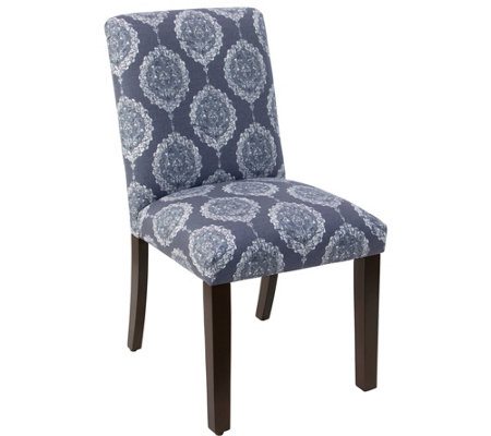 Skyline Furniture Damask Blue Dining Chair
