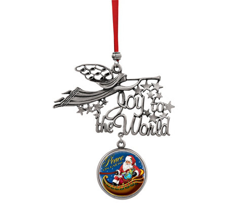 American Coin Treasures Santa Peace On Earth Jfk Coin Ornament