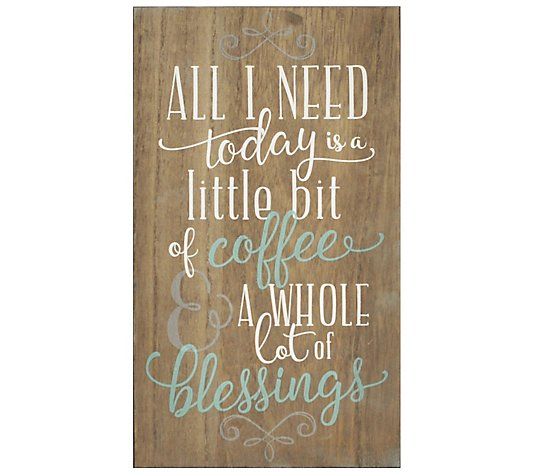 Stratton Home Decor Coffee And Blessings Wall Art Qvc Com