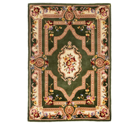 Royal Palace French Savonnerie 5' x 7' Wool Rug