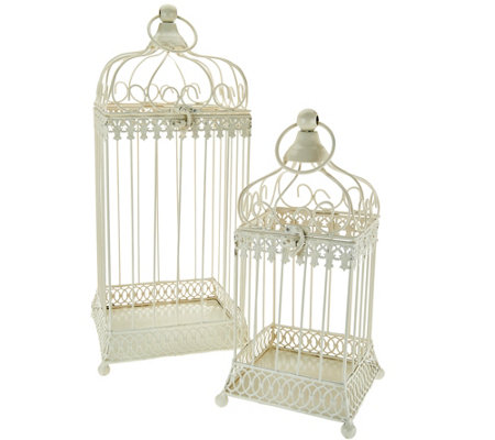Set of 2 Nested Metal Birdcages by Valerie