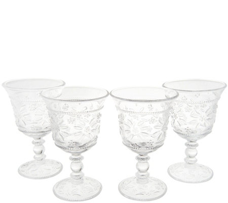 Temp-tations Old World Set of 4 Glass Goblets