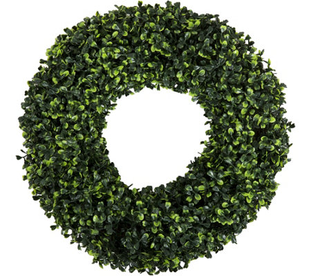 "16.5"" Round Boxwood Wreath by PureGarden"