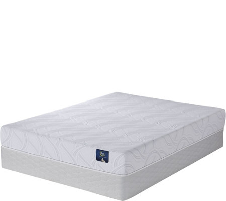 "Serta Zalia  Plush 8"" Memory Foam Cal King Mattress Set"