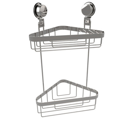 Lavish Home Wall Mounted 2-Tier Corner Shower Caddy