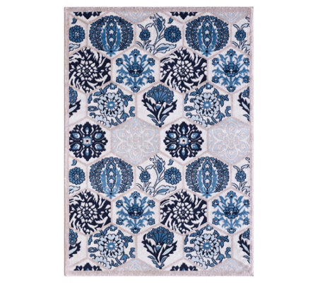 Vcny Home Framed Floral 24 X36 Area Rug