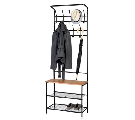 Honey Can Do Entryway Coat & Shoe Rack Combo