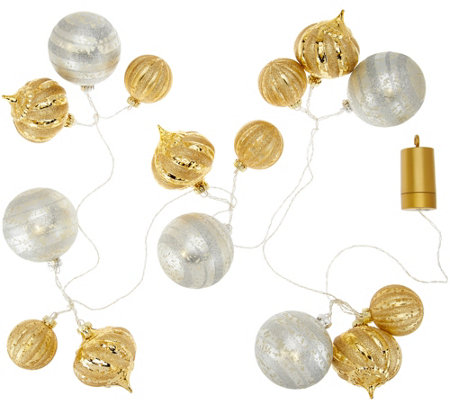 Kringle Express Shatterproof 6' Lit Ornament Cluster Garland