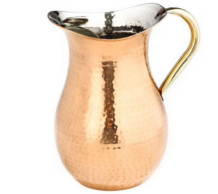 Old Dutch International Copper-Plated HammeredWater Pitcher