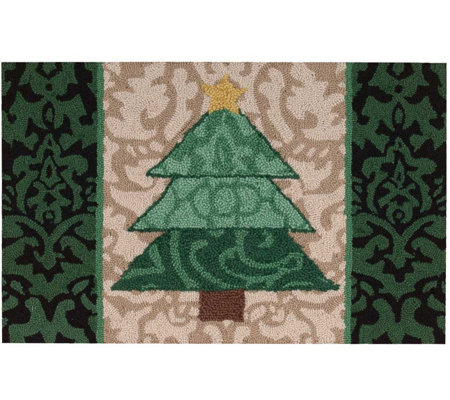 "Waverly 21"" x 33"" Christmas Tree Accent Rug byNourison"