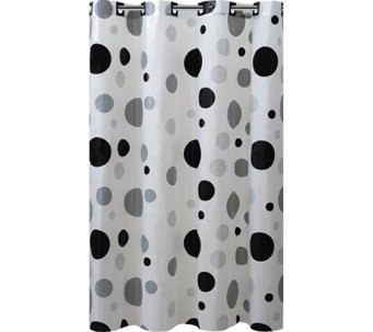 Hookless Printed Shower Curtain   Retro Dots   H293705