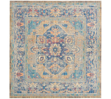 "Claremont Carrie 6'7"" x 6'7"" Square Rug by Valerie"