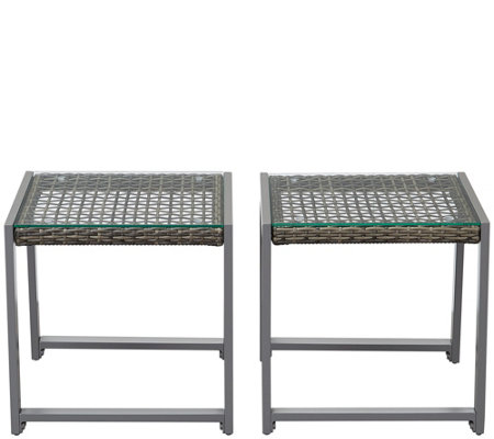 Real Flame Set of 2 Calvin End Tables