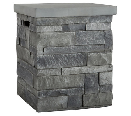 Real Flame Gray Ledgestone Tank Cover