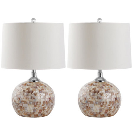 Safavieh Set of 2 Nikki Shell Table Lamps