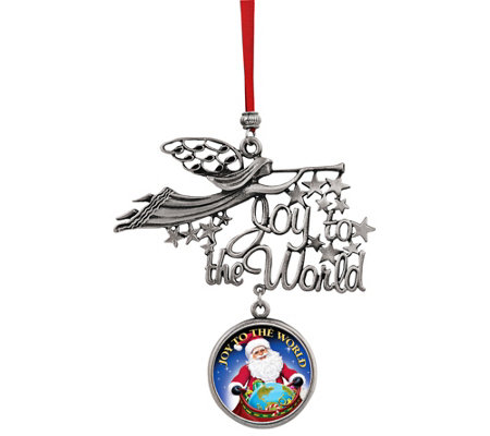 American Coin Treasures Santa Joy To The Worldcoin Ornament