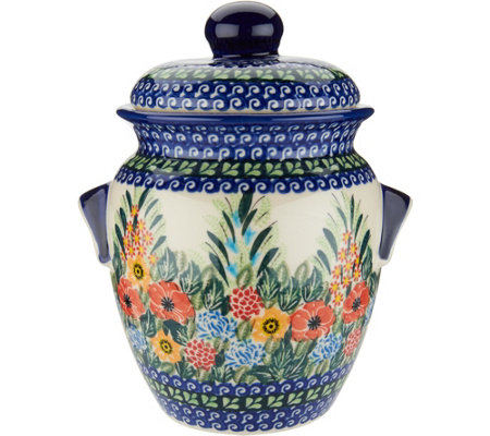 Lidia S Polish Pottery 1 5 Liter Cookie Jar