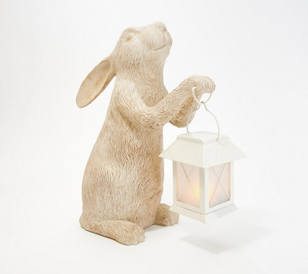 Indoor Outdoor 15 Bunny With Illuminated Lantern By Valerie