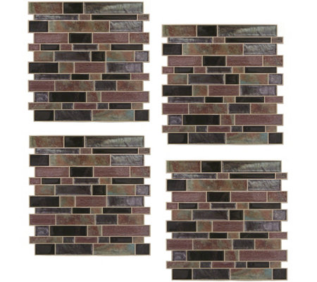 RoomMates Modern Long Stone StickTILES - 4 Pack