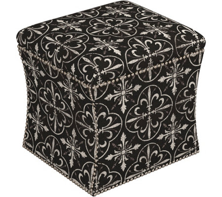 Skyline Furniture Nail Button Storage Ottoman
