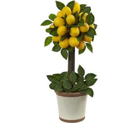 Lemon Ball Topiary Arrangement by Nearly Natural