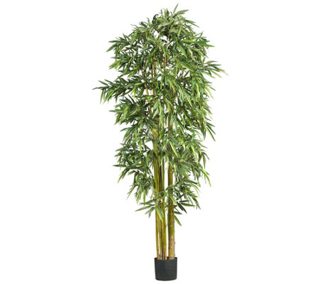 7' Biggy Style Bamboo Silk Tree by Nearly Natural