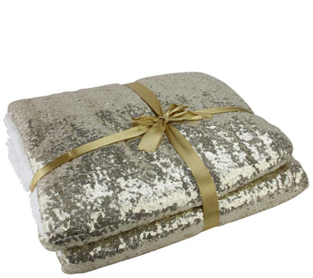 Northlight Glided White Gold Christmas Throw