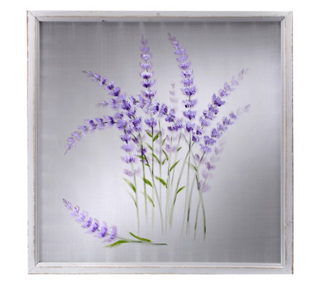 Lavender Painted Mesh Sceen by Valerie
