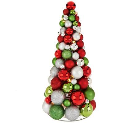 18 Illuminated Ornament Tree By Valerie