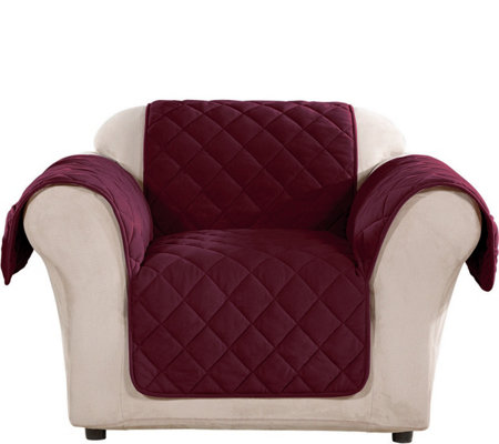 Astonishing Sure Fit Chair Plush Comfort Waterproof Furniture Cover Qvc Com Pdpeps Interior Chair Design Pdpepsorg