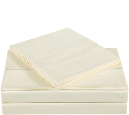 Charisma 310TC Solid Cotton Queen Sheet Set