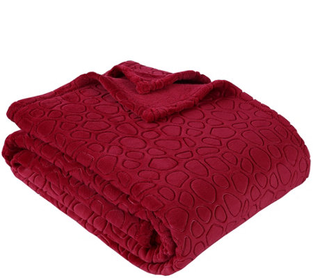 Berkshire Blanket PrimaLush Embossed Circles FL/QN Bed Blanket