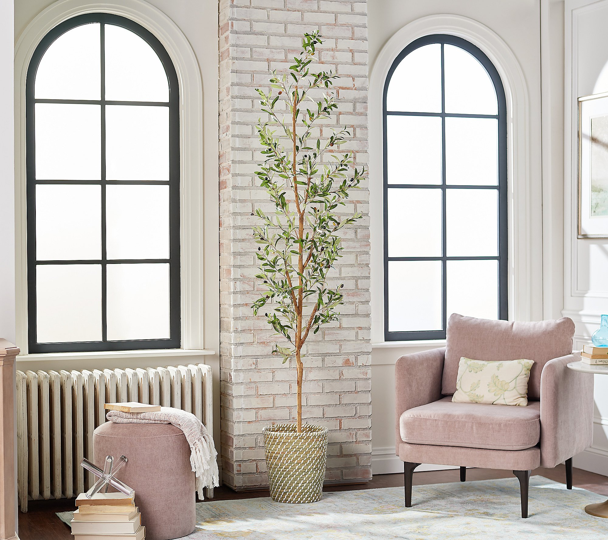 """Shop 82"""" Olive Artificial Tree by Nearly Natural from QVC on Openhaus"""
