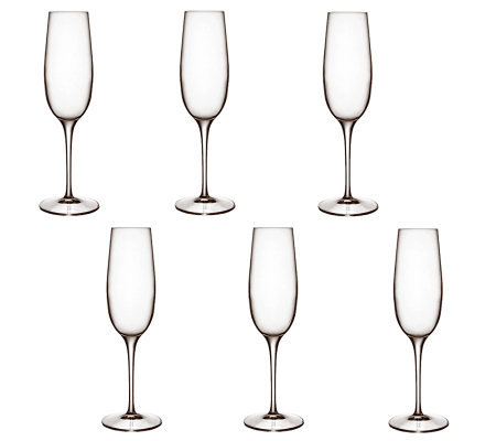 Luigi Bormioli 8.25-oz Palace Champagne Flutes- Set of 6