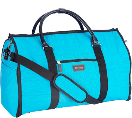 """As Is"" Biaggi Hangeroo 2-in-1 Garment Bag and Duffle by Lori Greiner"