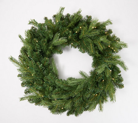 """As Is"" Bethlehem Light Shenandoah 26"" Wreath with 2-in-1 Lighting"