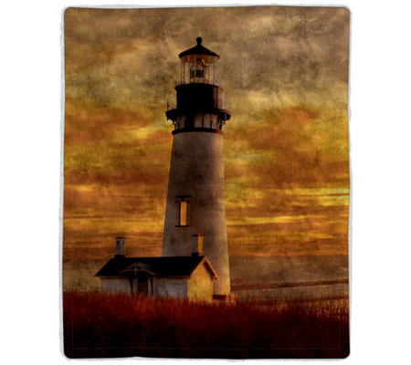 Lighthouse Sherpa Fleece Throw by Lavish Home