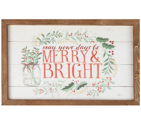 May Your Days Be Merry Bright Wall Art Tabletop Display