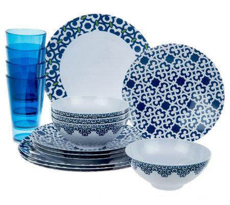 Service for 4 Everyday Dinnerware Set  sc 1 st  QVC.com & Latina Trellis 16-pc. Service for 4 Everyday Dinnerware Set u2014 QVC.com