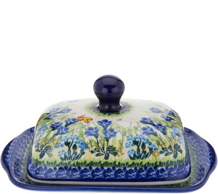Lidia's Polish Pottery Wide Butter Dish