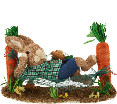 Sisal Bunny on Carrot Hammock or See-Saw by Valerie