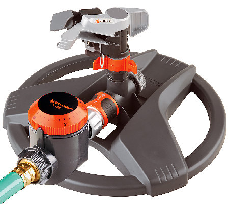 Gardena Full/Part Circle Pulse Sprinkler with Water Timer