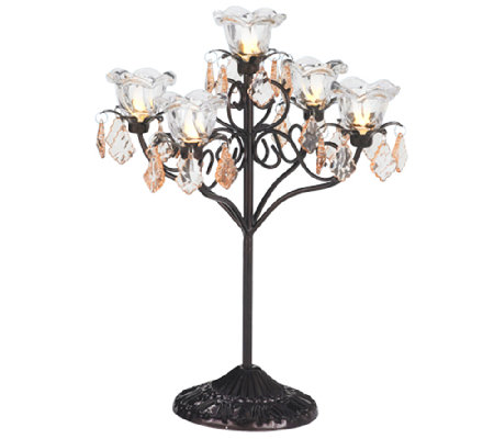 Exhart Indoor/Outdoor LED Five Flame Candelabra