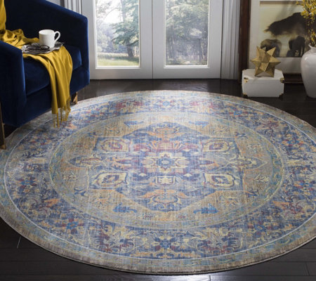 "Claremont Carrie 6'7"" x 6'7"" Round Rug by Valerie"