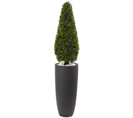 "50"" Boxwood Topiary Tree with Planter by NearlyNatural"