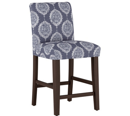 Skyline Furniture Damask Blue Counter Stool
