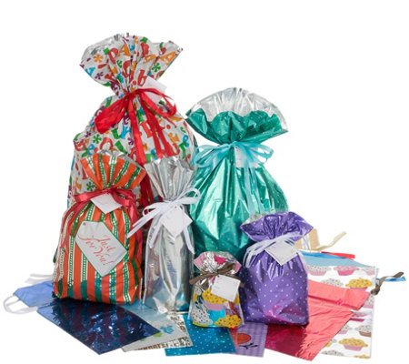 Kringle Express 46-Piece All-Occasion Gift BagSet
