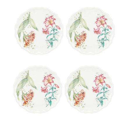 Lenox Set of 4 Butterfly Meadow Accent Plate
