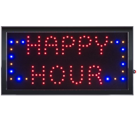 Lavish Home Happy Hour LED Sign with Animation